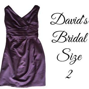 Purple Plum Davids Bridal Dress Size 2
